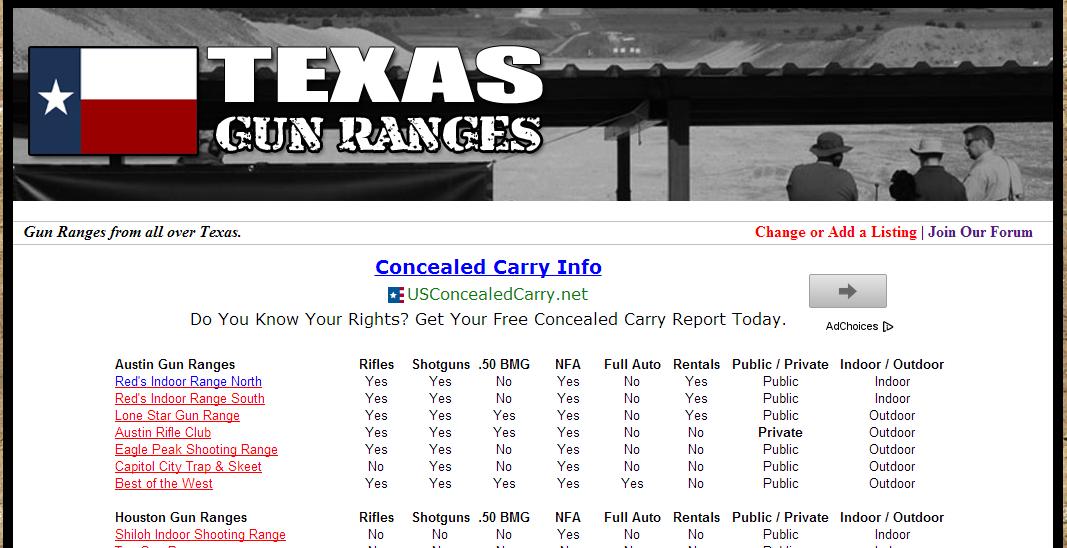 Texas Gun Range